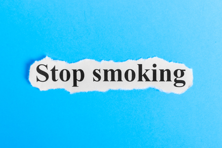 No Smoking text on paper. Word No Smoking on a piece of paper. Concept Image.