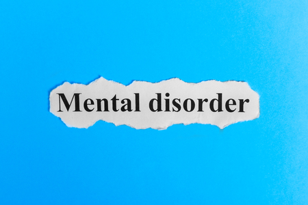bowel disorder: Mental Disorder text on paper. Word Mental Disorder on a piece of paper. Concept Image. Mental Disorder Syndrome.