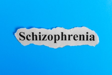Schizophrenia text on paper. Word Schizophrenia on a piece of paper. Concept Image. Schizophrenia Syndrome.