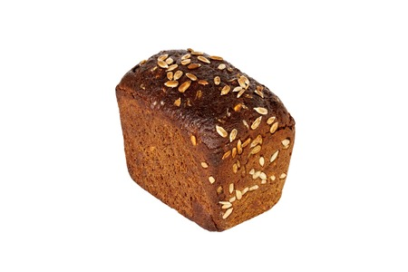 rye bread isolated on a white background.