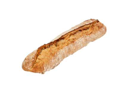 rye Baguette isolated on the white background.
