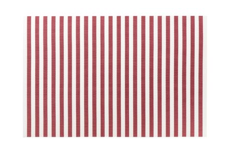 Top view of isolated red striped placemat for food. Empty space for your design. Archivio Fotografico - 142777256