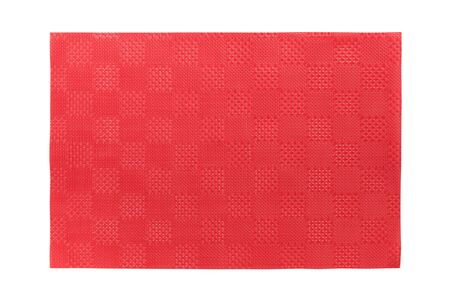 Top view of isolated red placemat for food. Empty space for your design. Archivio Fotografico - 143031811