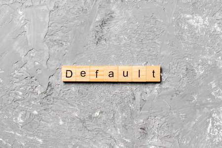 default word written on wood block. default text on table, concept. Stock Photo