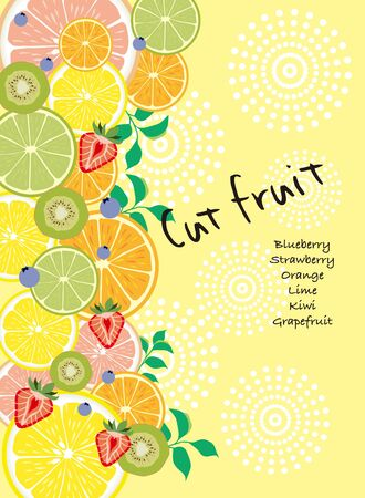 cut fruit design illustration