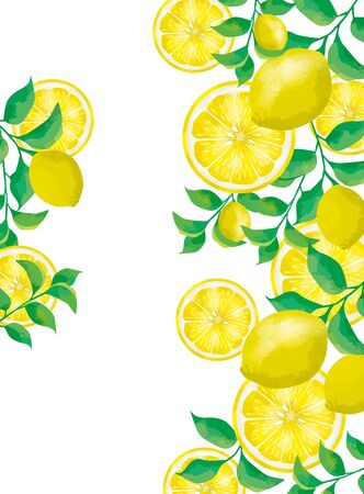 Lemon fresh Juice design illustration