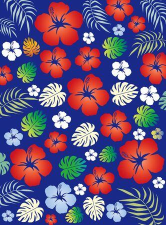 hibiscus design illustration 写真素材 - 128755070