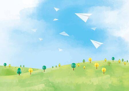 Grassland background material