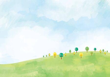 Grassland background material 向量圖像