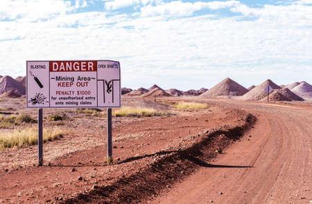 opal: Australian mining fields for opal exploration.