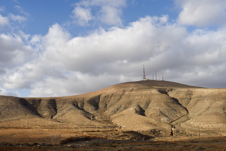 astronomic: Telecommunication mast with devices for telecommunication an navigation needs, mountain top Canary Islands Stock Photo