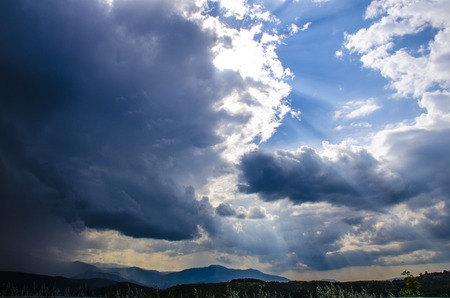 sunshines: Sunshines are coming out from the clouds  Stock Photo