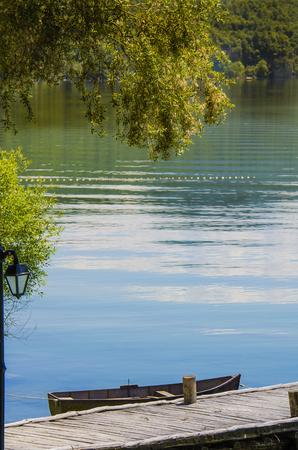 natur: lago di Ohrid Skopje in un bellissimo paesaggio di natur
