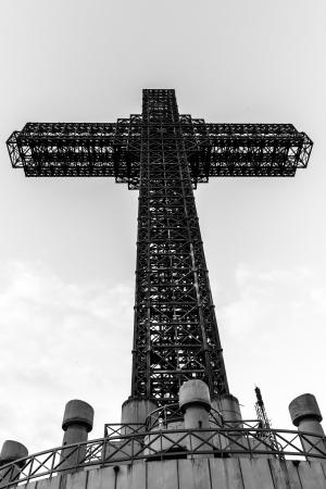 mettalic: Mettalic Cross on the Mountains of Skopje  Stock Photo