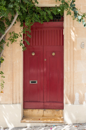 people in Malta paint their doors all kind of beautiful colors and use very interesting architecture so their houses are unique Stock fotó