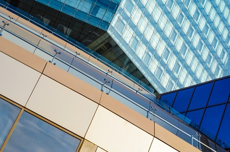 triplex: Elements of the facade. Composition of the elements of a modern building. Abstract background.