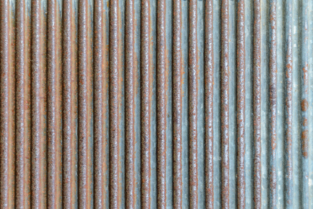 Old rusty texture of corrugated metal. Rusted galvanized iron plate Reklamní fotografie