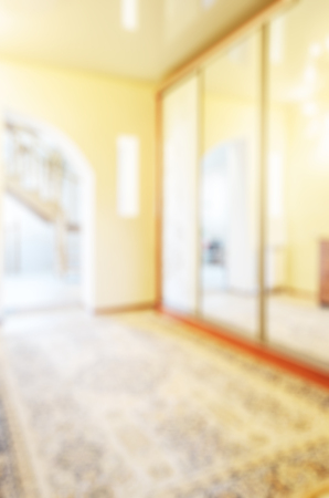 animal private: Abstract blur interior of corridor in a private house for background