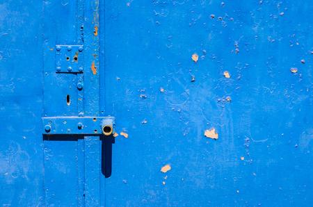 Old metal door texture for background Stock Photo