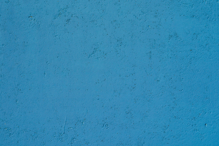 Blue plaster wall texture. Empty plaster background