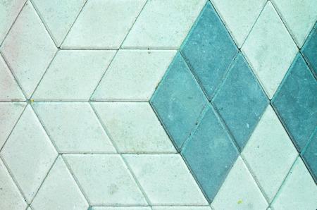 Gray Concrete Rhomboid Shape Paving Stone Texture. Sidewalk Background Concept
