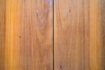 Book-Matched Wood Panels Background. Joints of Decorative Finishing from Wood Panels on Interior, Exterior Walls or Kitchen Facades. Mirror Matching Pattern of Two Wood Wallboards Stock Photo