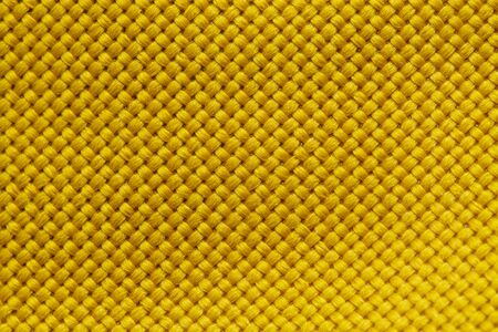 Yellow Nylon Fabric Texture Background. Thick Fabric for Backpacks and Sports Equipment