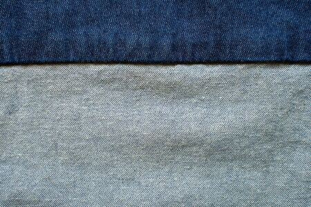 Navy blue fabric texture background top view.