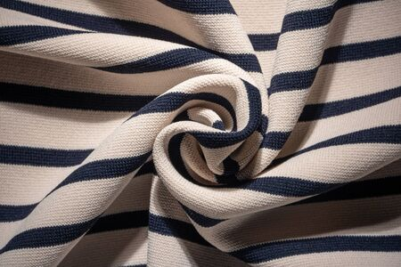 Twisted Striped Knit Fabric Texture Background
