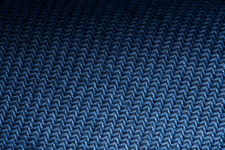 Blue Garment Fabric Texture. Close Up Fabric Background 版權商用圖片