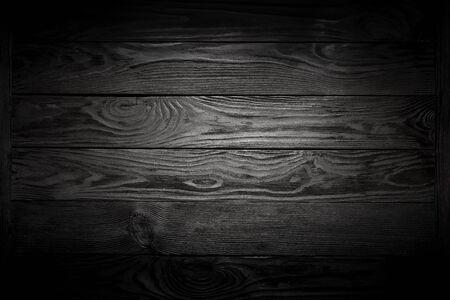 Black Wooden Plank Background with Vignette