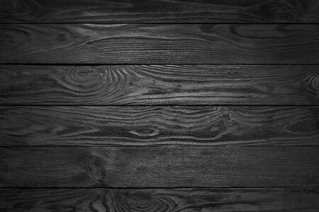 Schwarze Holzstruktur. Schwarzer Plank-Boden-Hintergrund
