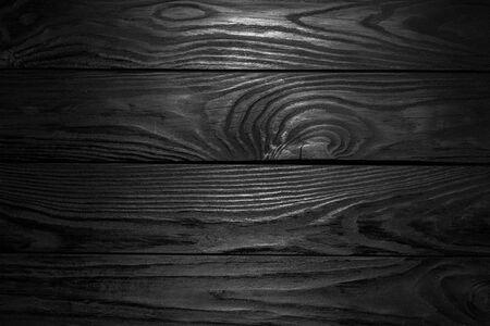 Black Wooden Texture. Black Plank Floor Background Standard-Bild