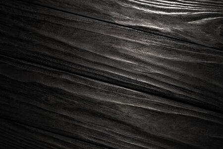Black Wooden Texture. Black Plank Floor Background