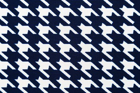 Fabric with goose foot pattern. Cloth background Stock Photo