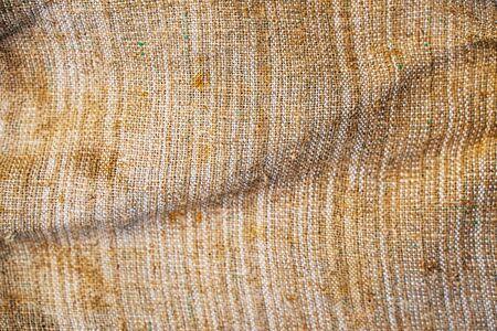 Burlap jute canvas vintage background. Old textile texture