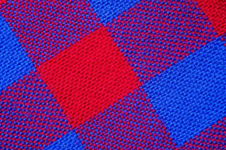 Plaid material. Red and blue cage clothes background 版權商用圖片