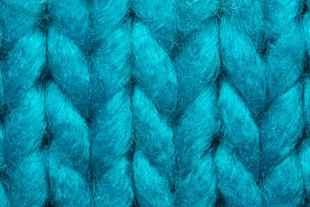 Blue knit sweater texture macro background Banque d'images - 144904466