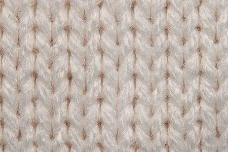 Beige texture of Knitted Sweater macro