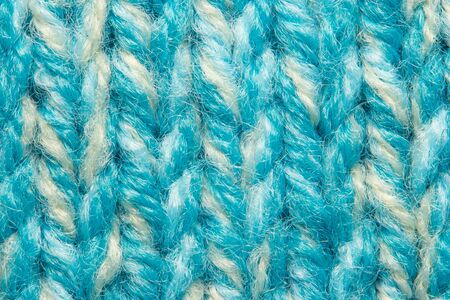 Blue knit sweater texture macro background Banque d'images - 144906341
