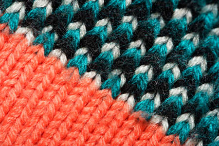 Colorful synthetic knitted fabric texture
