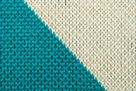 Blue and white synthetic knitted fabric texture
