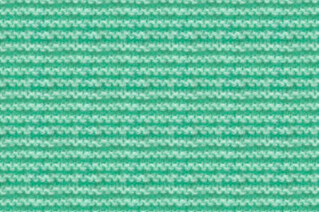 Turquoise, Mint Color Knitwear Fabric Texture. Machine Knitting Texture Macro Snapshot. Knitted Background.