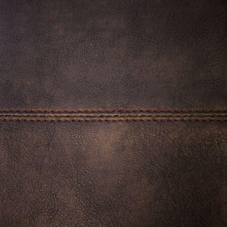 Seam on leather texture