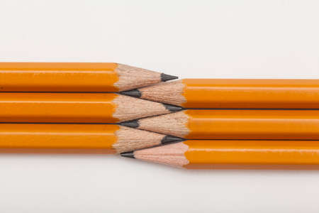 pencils for sketching on white background Archivio Fotografico