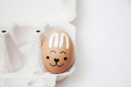 smiling egg with Bunny face for Easter