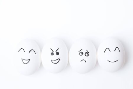 eggs with different emotions Archivio Fotografico