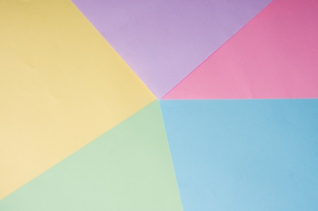 background of blue, yellow, pink, lilac sheets of paper 免版税图像