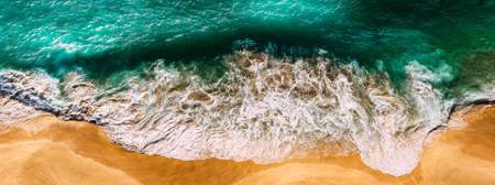 Aerial view of beautiful sea wave