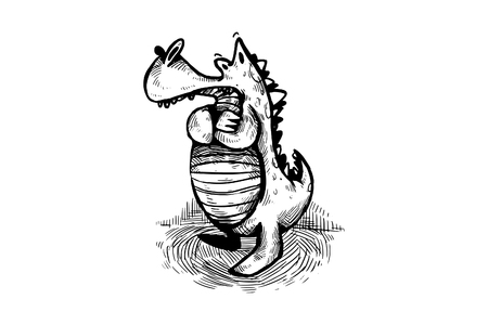 Sad Crocodile Mascot